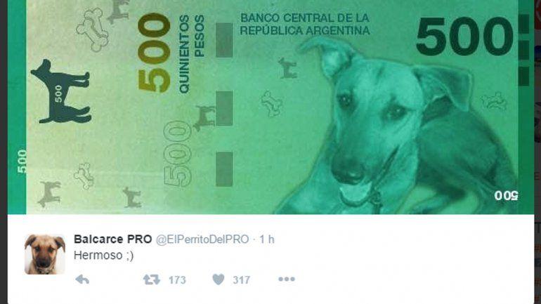 Ahora, el perro presidencial presentó su propio billete