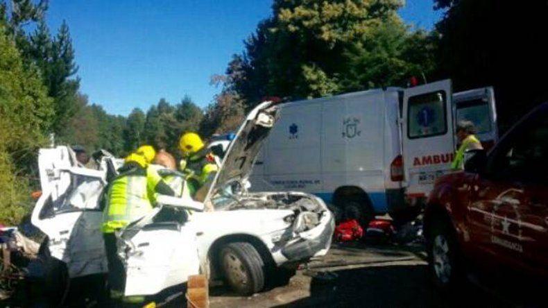 Trasladaron en un vuelo sanitario a la familia accidentada en Chile