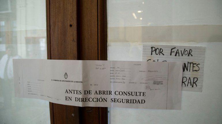 Clausuraron el despacho de Máximo Kirchner
