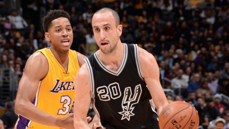 Manu Ginóbili se lució ante los Lakers
