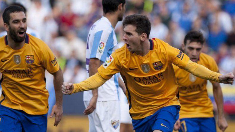 Messi le dio el triunfo al Barcelona contra el Málaga