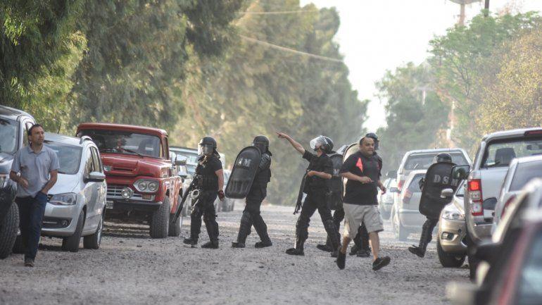 La Policía tuvo que intervenir ante los incidentes.