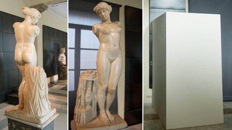 El antes y el después en los Museos Capitolinos de Roma.