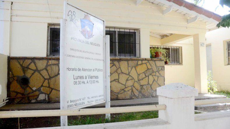 La sede del Boletín Oficial