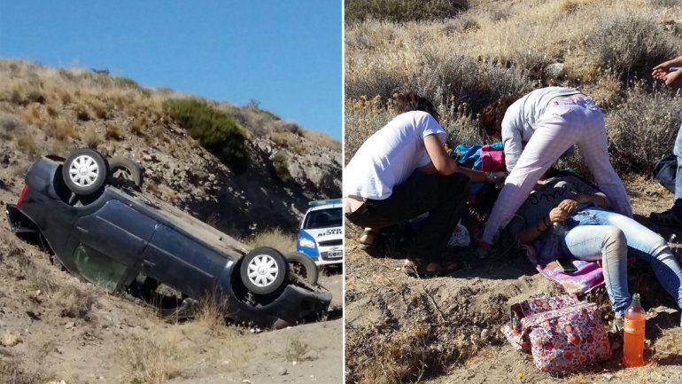 Una familia de Junín de los Andes volcó en la Ruta 234