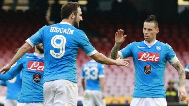 Con un gol de Higuaín, Napoli goleó a Empoli y recuperó la punta