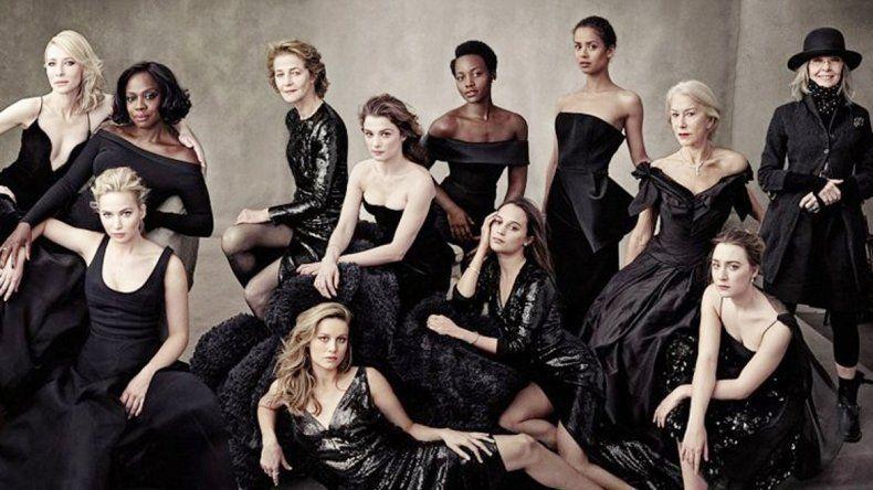 Trece actrices consagradas posaron de negro para la imponente portada.