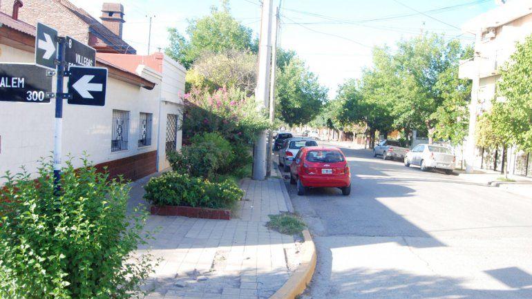 La casa ubicada en Villegas al 500 que fue blanco de los ladrones.