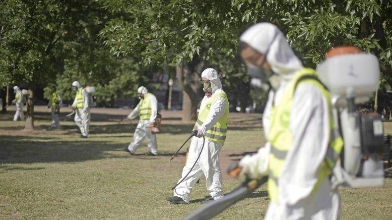 Los operarios que fumigan están autorizados para hacer las tareas. Pero los cazamosquitos usan carnets truchos para engañar a sus víctimas.