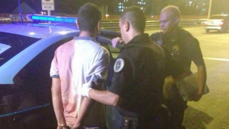 El confeso asesino de su hijo fue detenido en Puente Pueyrredón.