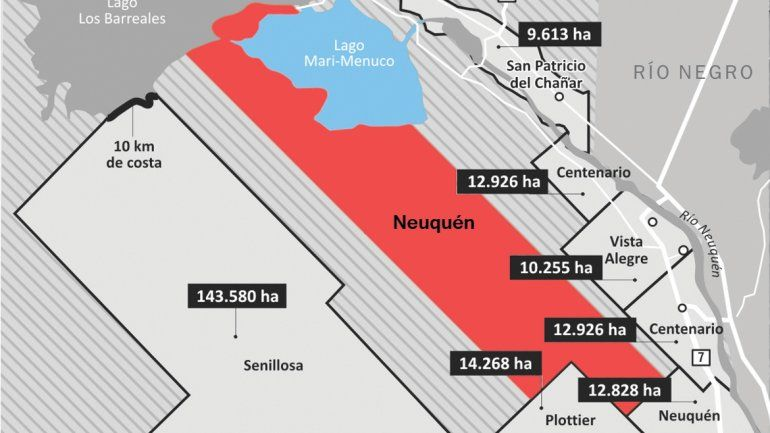 El pasillo que pretende Neuquén en su ampliación colisiona con las aspiraciones de los demás municipios.