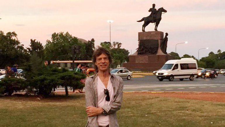Mick Jagger se fotografió en Palermo y revolucionó Twitter.