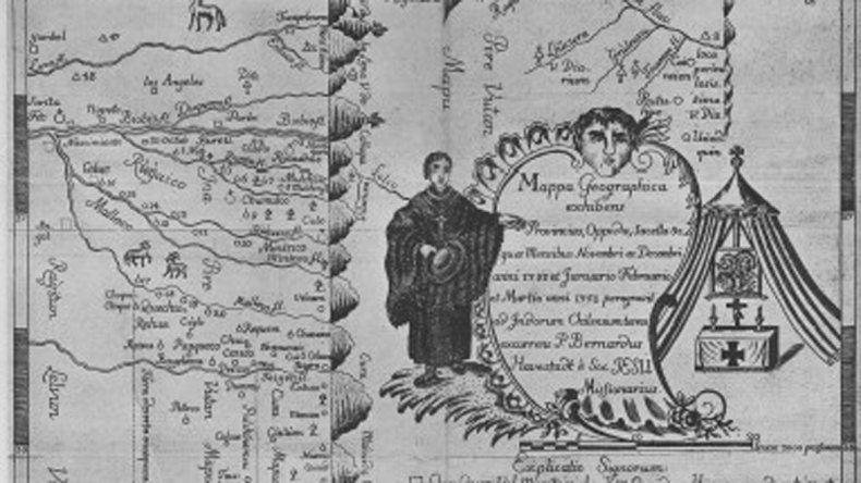 Un documento histórico: el mapa de la región realizado durante la expedición que comenzó hace 264 años