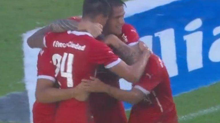 Independiente encontró la victoria sobre el final ante Belgrano