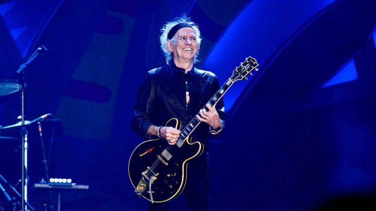 Keith Richards cantó Happy y Cant Be Seen y recibió un aplauso que parecía no tener fin.