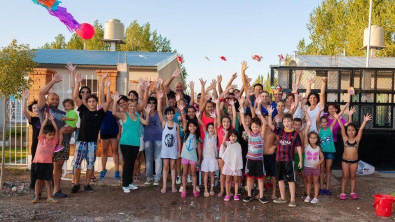 Vecinos de Valentina Sur Rural festejaron el carnaval