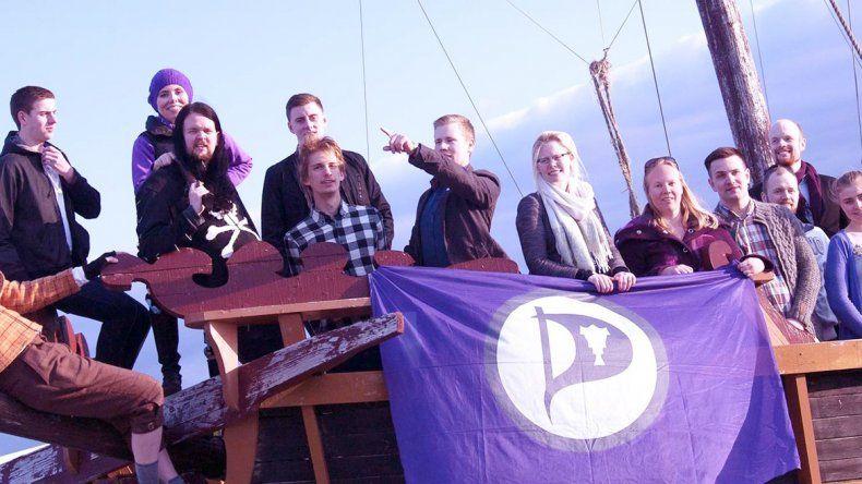 Los miembros del Partido Pirata en una foto difundida por su aparato de campaña. Se vota el año que viene.