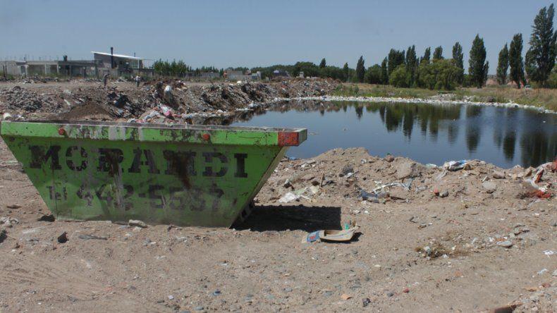 Detectaron un basural a metros del río Limay: hay termotanques, pañales y animales muerto