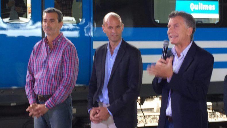 Junto a Randazzo, Macri inauguró un nuevo servicio en la Línea Roca