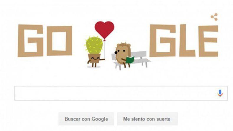 Una de las tres imágenes que Google mostró durante todo el día.