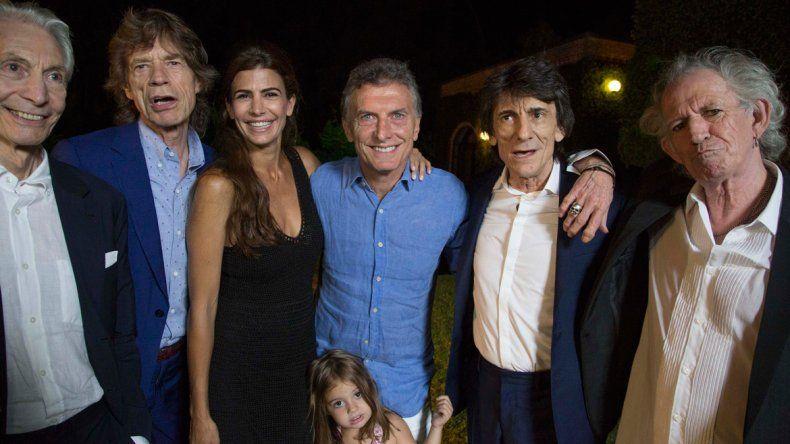 Así fue el encuentro de Macri con los Rolling Stones