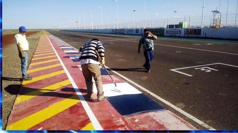 Los trabajos en el autódromo de Centenario están casi finalizados.