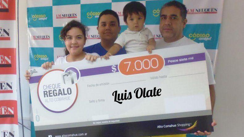 Luis disfrutará de los 7 mil pesos para gastar en el shopping