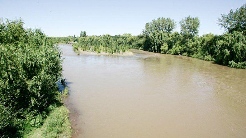 Mucha turbidez por los sedimentos. Así se ve el agua del Neuquén.