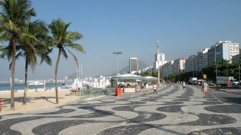 La costanera de Copacabana en Río de Janeiro.