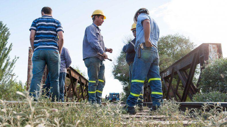 Los operarios de Ferrosur