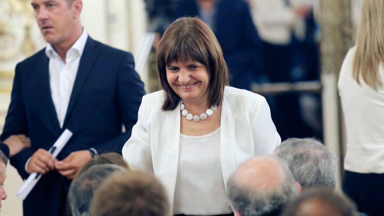 La ministra de Seguridad de la Nación
