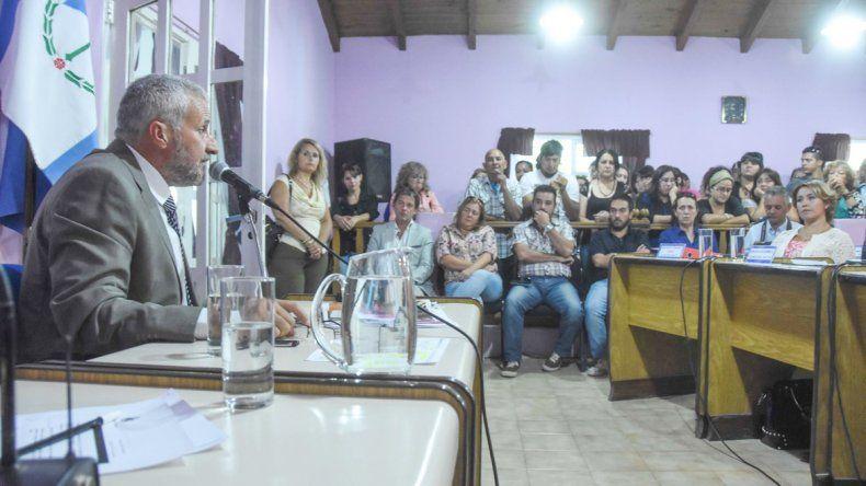 El intendente Peressini espera que la modificación de la ley de coparticipación no sea una cortina de humo.
