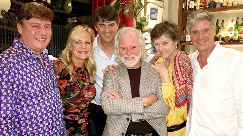 Chuck Leavell (en el centro) junto a los impulsores del proyecto.