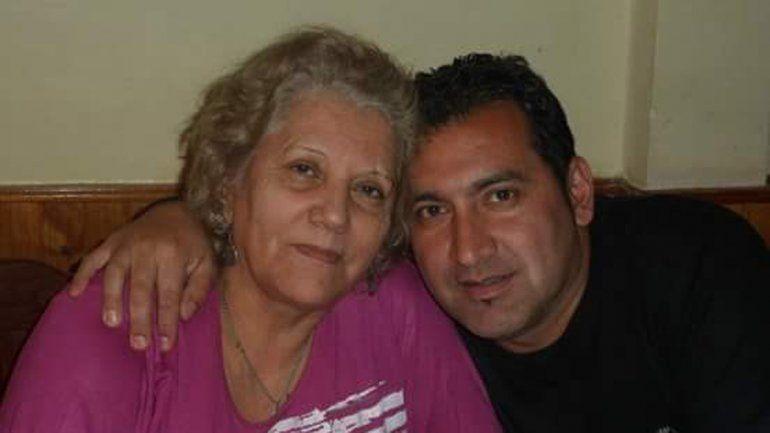 Con su mamá