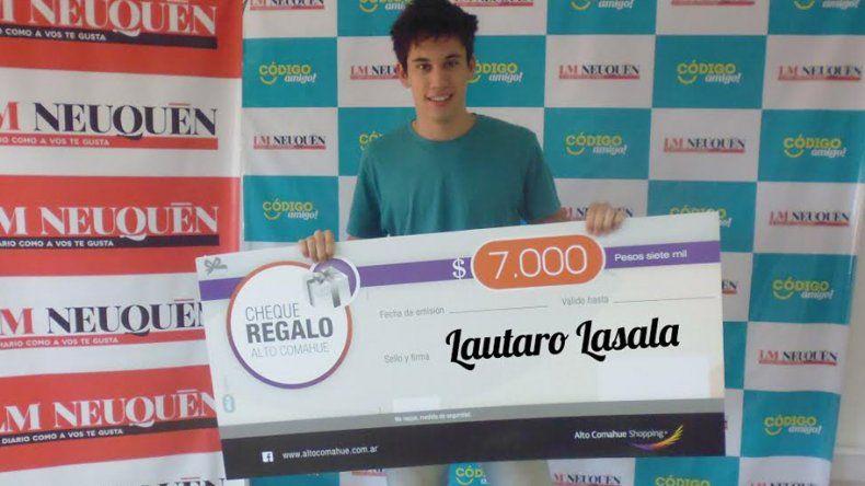 Lautaro ya tiene sus 7 mil pesos para gastar en el shopping