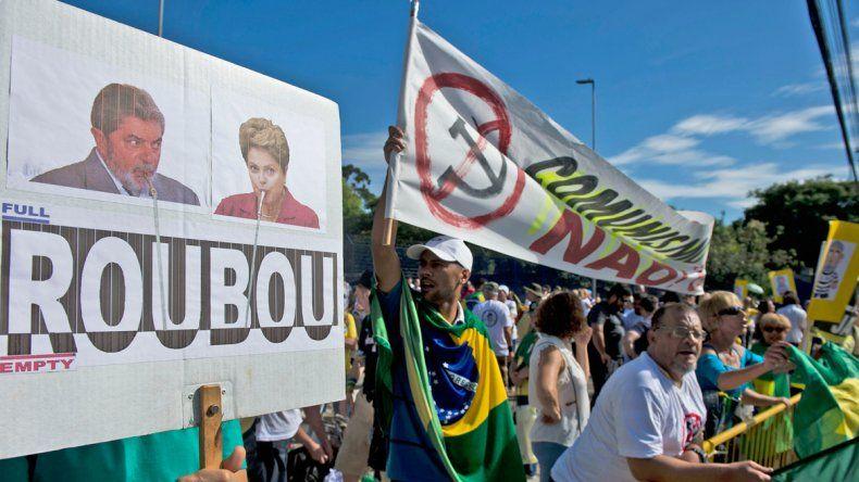 Una marcha opositora al Gobierno