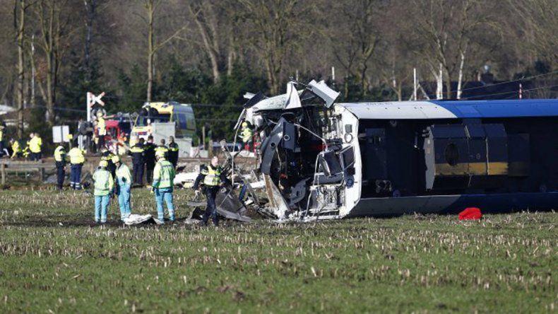 Un tren descarriló en Holanda y hay al menos un muerto