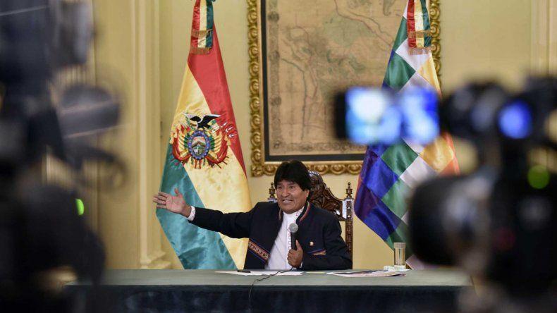 Evo Morales ayer