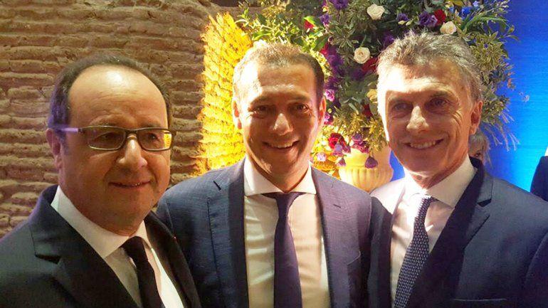 Gutiérrez, en la cena de honor que le hizo el presidente a Hollande