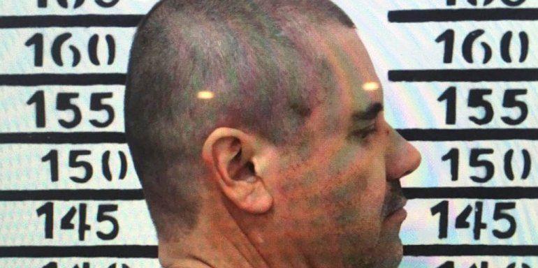 La última ficha de preso del Chapo en México.
