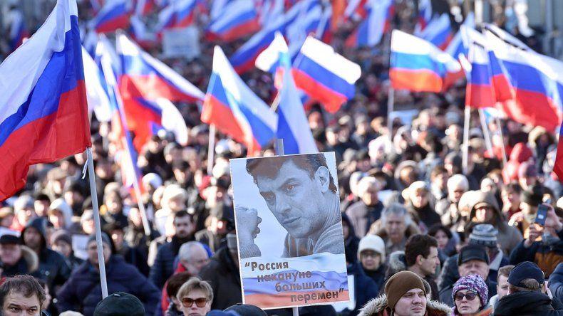 La marcha fue para recordar al opositor Boris Nemtsov.