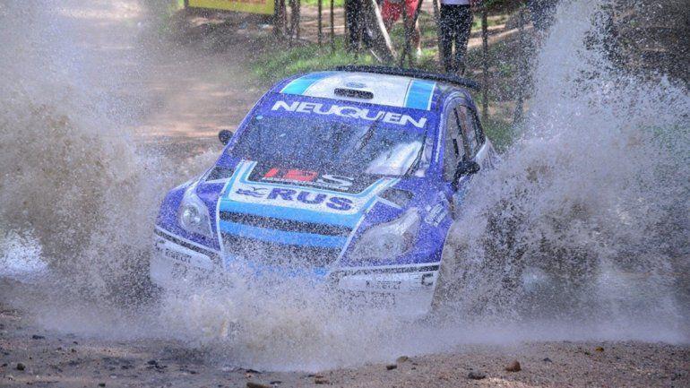 El neuquino Alejandro Cancio marcha tercero en el Rally de Carlos Paz.