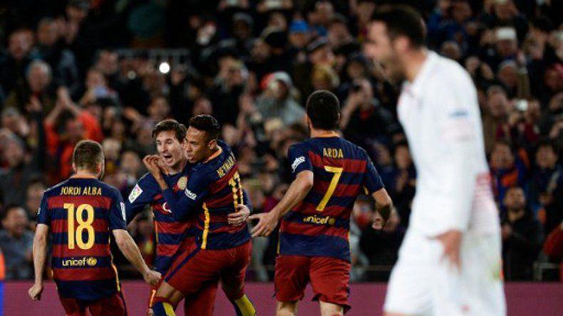 Con un gol de Messi, Barcelona venció por 2 a 1 al Sevilla y da un nuevo paso para conquistar la Liga