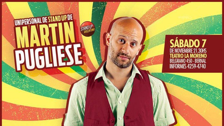 Martín Pugliese es una de las estrellas de Comedy Central.