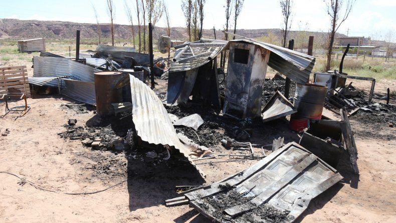 Sólo restos quedaron de la casa de la familia Peuchot