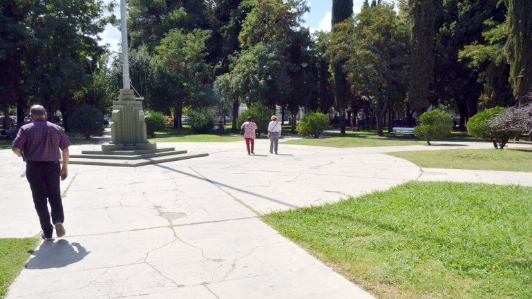 La plaza Roca es una de las más tradicionales de la ciudad.