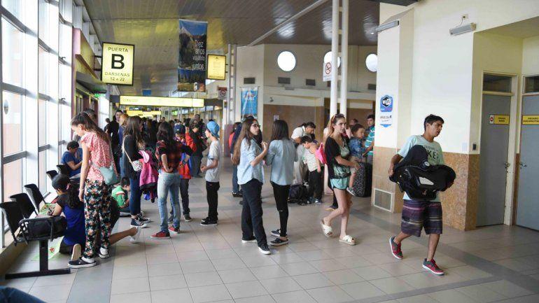El mes pasado hubo 86.540 pasajeros que partieron de la terminal.