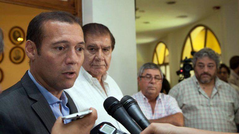 El gobernador Omar Gutiérrez junto a Guillermo Pereyra.