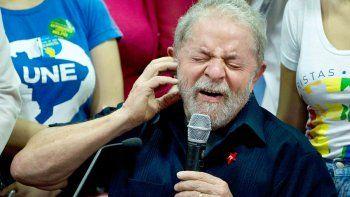 Lula da Silva, ayer, durante una conferencia de prensa en la sede del Partido de los Trabajadores (PT).
