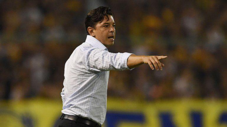 Gallardo jugó siete veces oficialmente ante Boca: ganó 2